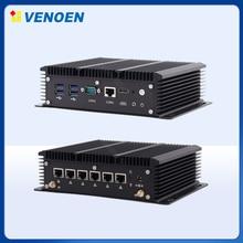Güvenlik duvarı yönlendirici mini endüstriyel pc 6LAN Celeron 2955U çekirdek i5 7267U i3 7167U 3865U çok RJ45 DB9 seri Port taşınabilir bilgisayar