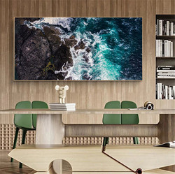 Large Craggy Rocks and Coastline View Canvas Paintings On the Wall Art Posters and Prints Seascape Canvas Pictures Home Decor