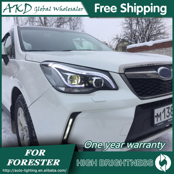 Headlights For Car SUBARU Forester 2013-2016 DRL Day Running Light Head Lamp LED Bi Xenon Bulb Fog Lights Tuning Car Accessory image