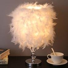 Настольная лампа с перьями прикроватный светильник в стиле ins
