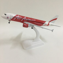 JASON TUTU 20cm Plane Model Airplane Model Air Asia Airbus A320 Aircraft Model 1:300 Diecast Metal Airplanes Plane Toy Gift(China)