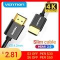 Tions HDMI 2,0 Kabel Ultra 4K Schlanke HDMI 2,0 Splitter Kabel für PS4/3 Projektor HDTV X-box Nintendo Schalter 3D Dünnen Kabel HDMI