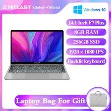 Ноутбук Teclast F7 Plus, 14,1 дюйма, Intel Celeron N4100 Windows10 8 Гб LPDDR4 256 ГБ M.2 SSD 1920*4,2 IPS Bluetooth Wifi