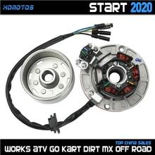 12V AC Ignition Magneto Stator Flywheel kit With Light For YINXIANG YX 140cc 150cc 160cc KAYO BSE SDG SSR Pitsterpro Dirt Bike