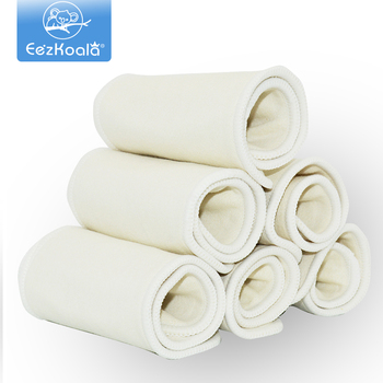 EezKoala 10 sztuk 4 warstwy konopnej bawełny pieluchy wkładka wielokrotnego użytku Super miękka pieluszka dla niemowląt wkładka 36*13 5cm dla pieluchy z tkaniny i pokrowce tanie i dobre opinie Unisex 3-15 kg CN (pochodzenie) W wieku 0-6m 7-12m 13-24m Majtki laboratoryjne Bamboo Cotton 4 layers Hemp Cotton Diaper Insert Reusable