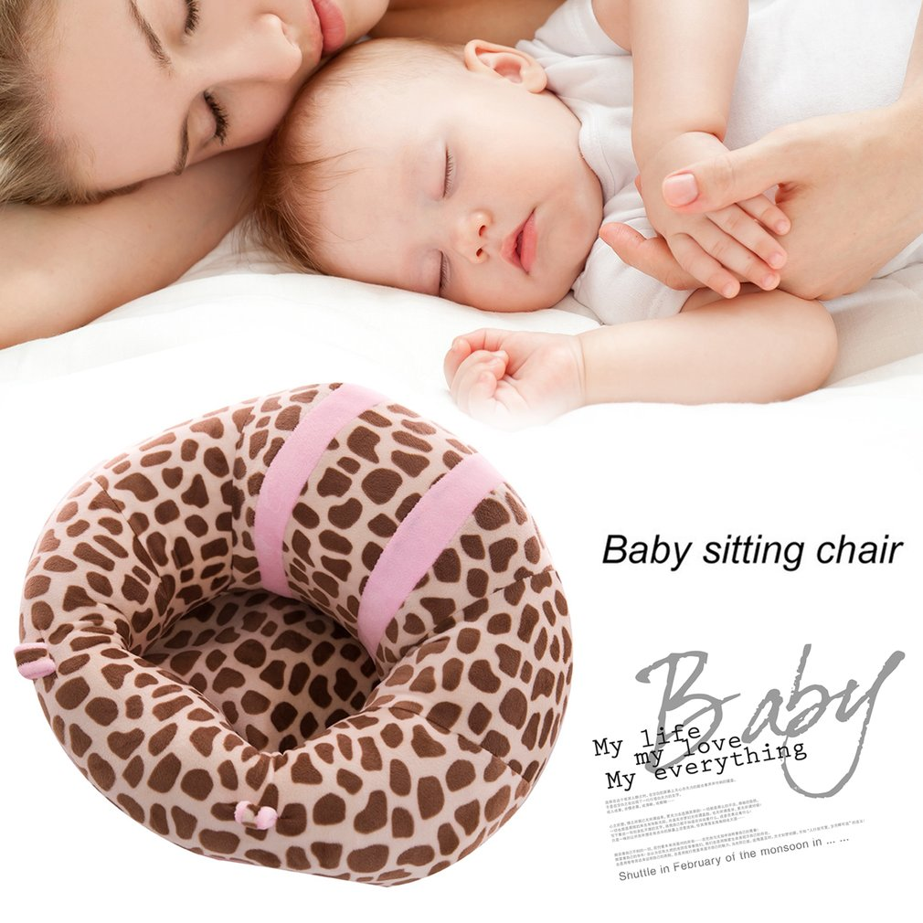 Hot ! Baby Back Support Seat Soft Cotton Safety Plush Legs Feeding Dining Chair Cushion Pillow Animal U Shaped Baby Car Seat