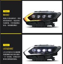 2 قطعة 2017 ~ 2019y سيارة bupmer رئيس ضوء لنيسان X Trail العلوي روج X درب xtrail اكسسوارات السيارات LED الضباب X Trail كشافات
