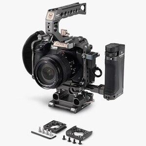 Image 2 - Tilta DSLR تلاعب هيكل قفصي الشكل للكاميرا لباناسونيك Lumix GH5 GH5S gh4 تلاعب عدة TA T37 A G مقبض علوي الجانب التركيز