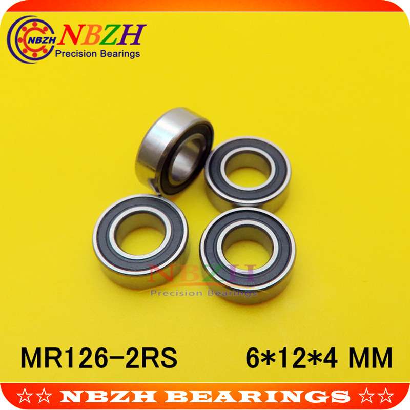MR105-2RS Rubber Ball Bearing Bearings YELLOW 5*10*4 MR105RS 10Pcs 5x10x4 mm
