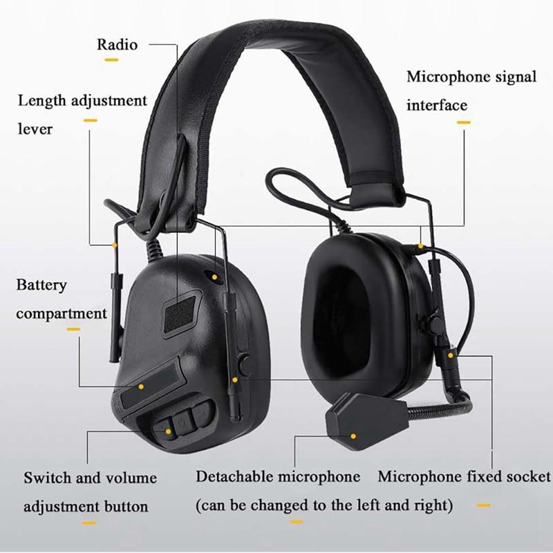 Ruído Captador Acessórios Capacete Fone De Ouvido