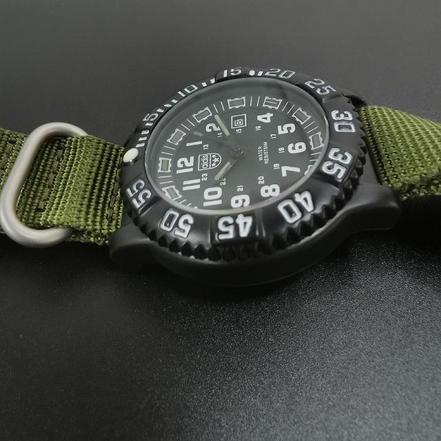 Addies Men Military Watches Leisure Outdoor Sports Luminous Watch Multi-functional NATO nylon Waterproof Men's Quartz Watch