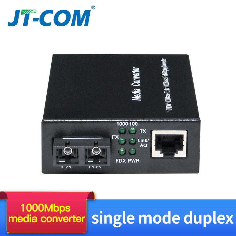 1 Pair 1000M FTTH Optic Fiber Media Converter SC Rj45 Single Mode Duplex Gigabit Fibra Optica 1G1E/2E/4E/8E Transceiver 20/40km