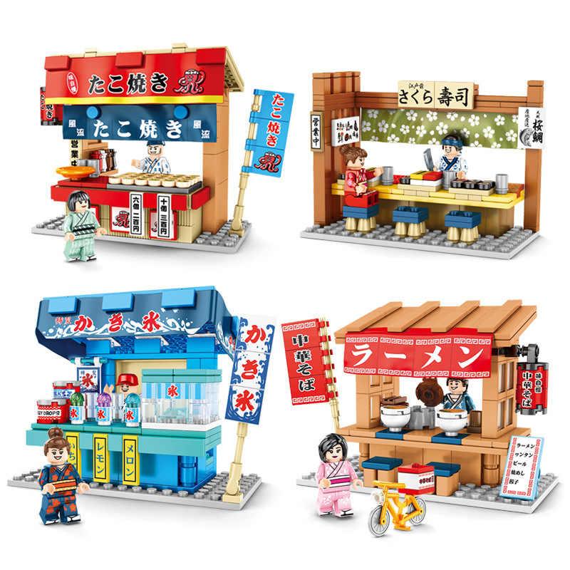 Sembo City Japan Street Tea Teaism House Room Lounge Mini Blocks Building Shop