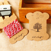 50pcs Dandelion Tree Design Thicken Cardboard Kraft Paper Tags Birthday Party Candy Boxes Tags Packaging Label Bobbine Spool(China)