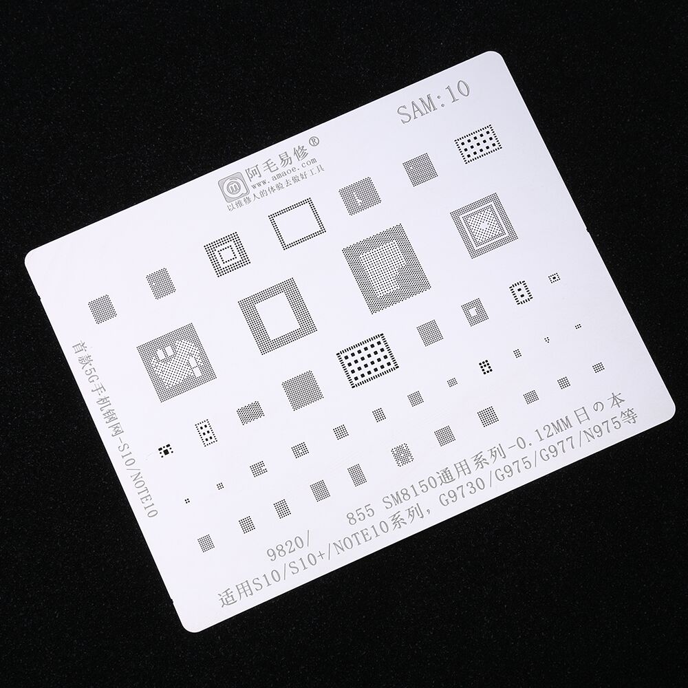 BGA Stencils For Samsung S10 S10+ NOTE10 Series G9730 G975 G977 N975 For Exynos9820 SM8150 Reballing Tin Soldering Net