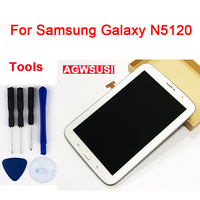 For Samsung Galaxy Note 8.0 N5120 GT N5120 Touch Screen Digitizer Sensor Glass + LCD Display Panel Monitor Assembly With Frame
