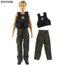 Doll-Clothes Ken Male Pants Vest Long-Trousers Black for Sleeveless 1set Boy Men 1/6