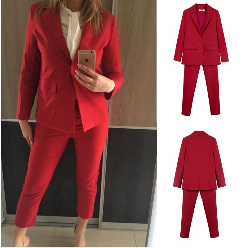 Work Pant Suits OL 2 Piece Set for Women Business Interview  Uniform Blazer and Pencil Pant Office Lady