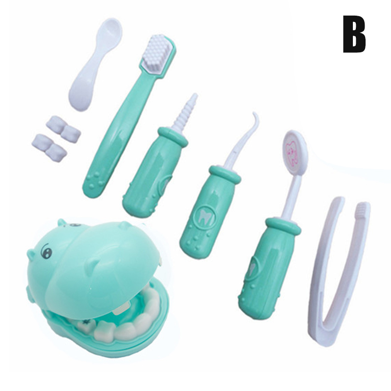 9pcs Play Doctor Kit For Kids Pretend Play Dentist Medical Set Plush Toy Roleplay Toddlers image