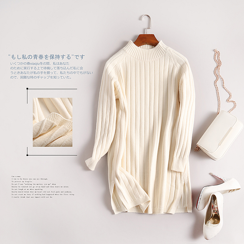 Sweaters Women 2019 Fashion Long Loose Solid Jumper Winter Loose Long Sleeve Knitted Pullover Female Spring Autumn