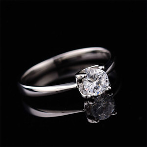 Image 4 - Moissanite Rings for Women D color 0.5ct 2ct Super Flash Engagement Rings Classic S925 Sterling Silver Ring Femlae Fine Jewelry