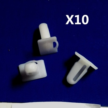 10 Pieces Door Sill Plate Side Moulding Clip for BMW E21 E30 E36 OE 51471840960 image