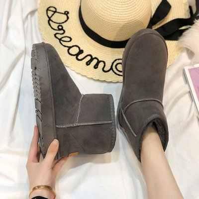 Sonbahar kış kadın yarım çizmeler yeni moda kadın kar botları kızlar bayanlar iş ayakkabısı yüksek Top Sneakers