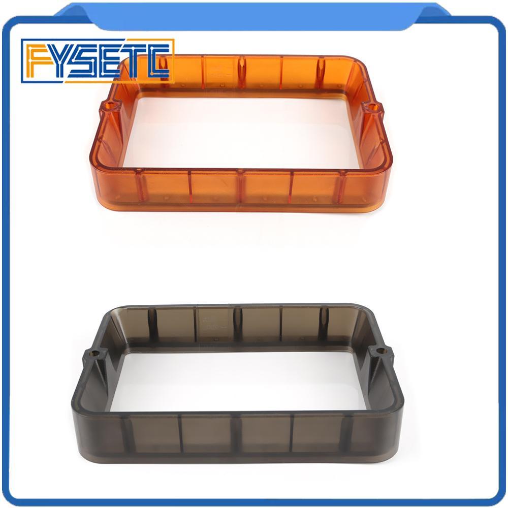 Material Rack 178*120mm Transparent Black/Orange DLP SLA 3D Printer Plastic Resin Vat FEP Film For Wanhao D7 Photon Steel Ring