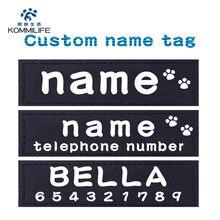 2 PCS Personalizado Nome Personalizado K9 Harness Dog Collar Harness Dog Dog Tags Rótulo Adesivo Personalizado Remendo Pet Harness Dog Tag Nome