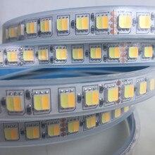 Светодиодная лента CCT, двойной белый, теплый белый и белый, чип 2 в 1, Светодиодная лента 5050/5025, цветная регулируемая, 12 В/24 В, водонепроницаемая...