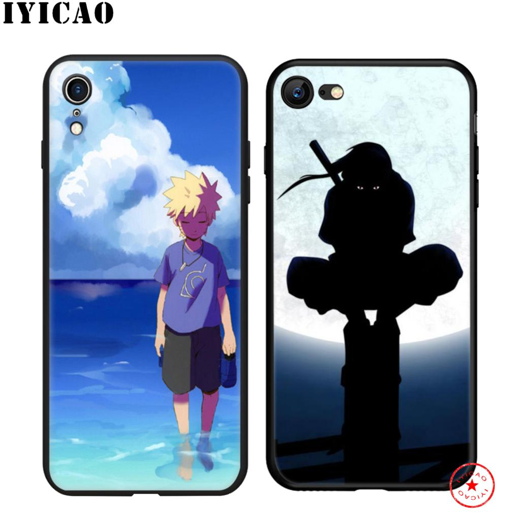 IYICAO Hokage Naruto Soft Black Silicone Case for iPhone 11 Pro Xr Xs Max X or 10 8 7 6 6S Plus 5 5S SE in Fitted Cases from Cellphones Telecommunications