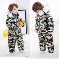 Russia Baby Winter Jumpsuit Clothing Warm Outerwear Coats Snow Wear Duck Down Parkas Jacket Snowsuits for Kids Boys Girls