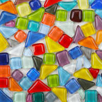 Almost DIY 60 pcs Multicolor Mosaic Tiles Material Package For Crafts Mosaic Making Children Puzzle Art Craft Colored Stone