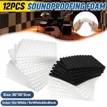 12x30x30x2cm Akustische Schallschutz Schaum Fliesen Noise Sound-Absorbieren Studio Behandlung Wand Panel schalldichte Schaum