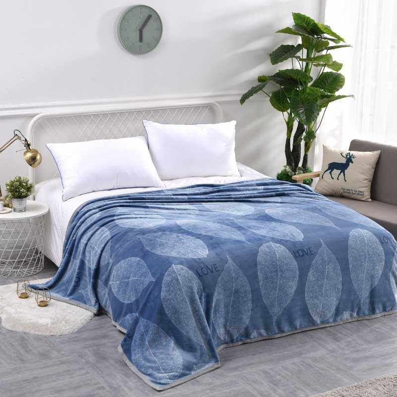Flannel Home Warmer Blanket Thickened Quilt Bedroom Bedspread Office Cover Plaid Baby Winter Comforter