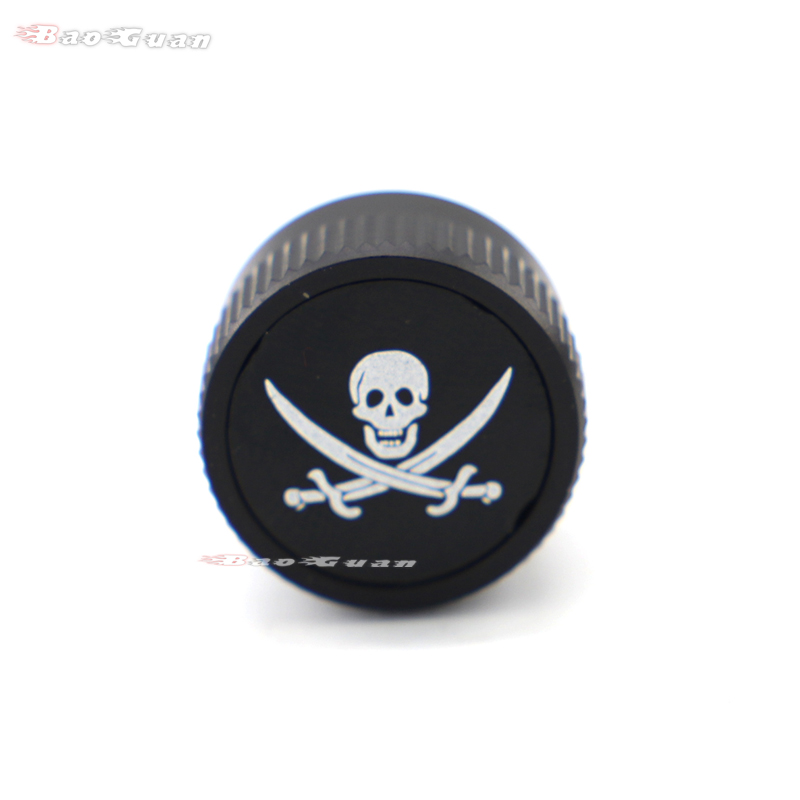Jolly Roger Pirate Stainless Knurled Fender Seat Bolt Screw 1//4-20 Thread For Harley Davidson