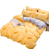 Thickened AB edition four piece set of non balling and non shrinkage bed sheet four piece set
