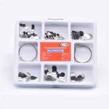 Matrice dentaire 100 pièces/ensemble, en métaux incurvés n ° 1.398, lmws 2 anneaux, équipement de laboratoire dentaire, outils de remplacement des dents