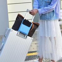 Gepäck Einfarbig Staubdicht Lagerung Tasche Trolley Feste Tasche Reisetasche Nylon Haspe Halter Schulter strap Einstellbare 100cm