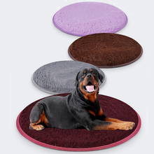 2019 new Cong fee multi color dog cat pet bed diameter 60cm and 80cm round Soft Warm plush waterproof seat mat