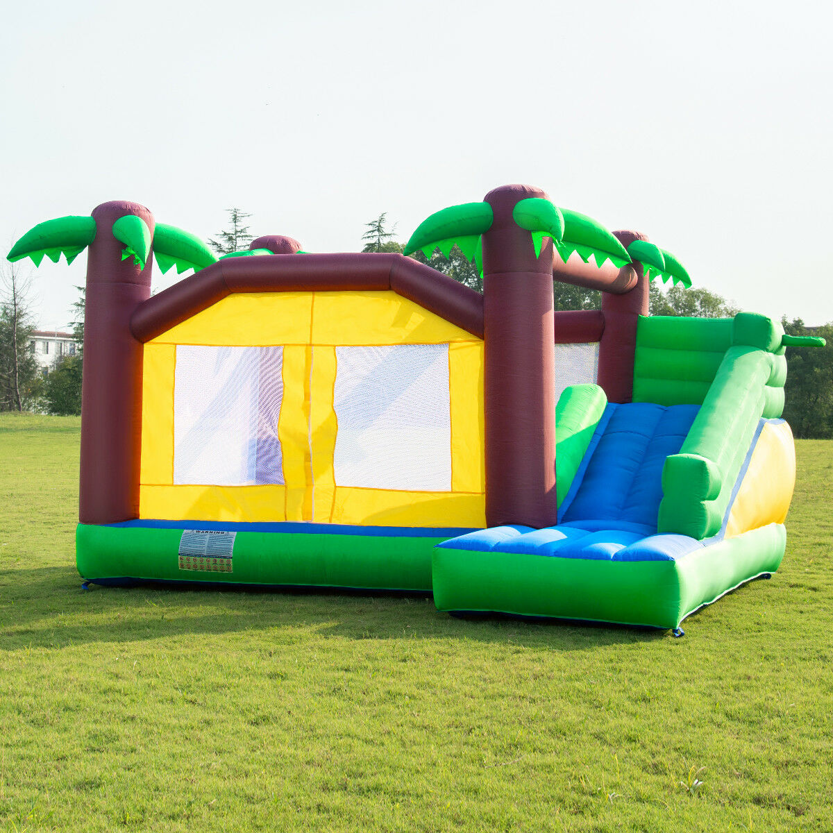 Inflatable Moonwalk Jungle Bounce House Jumper Bouncy Kids Jump Bouncer Castle