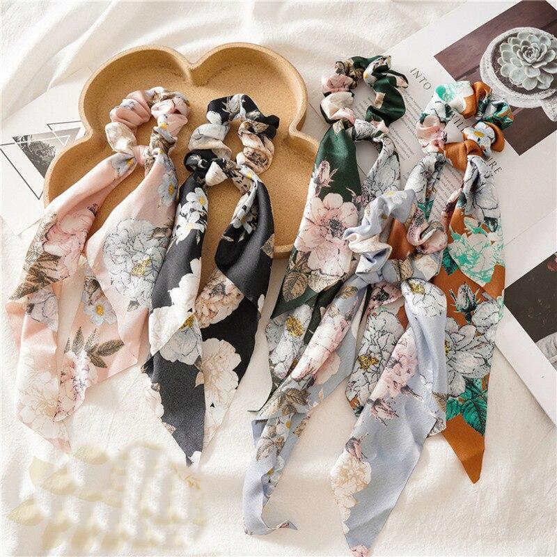 Lazos coreanos de cuerda para el pelo para niña y mujer, coleta mujer, anillos para el cabello, accesorios para el cabello, cintas elásticas anudadas a cuadros, 2020