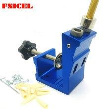Kit de plantilla perforadora de agujero de bolsillo de 9mm, Mini estilo, Kit de plantilla de agujero de bolsillo para trabajo de madera, conjunto de broca de paso, herramientas de carpintería