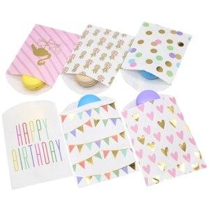 Бумажные пакеты для подарков, свадебная сумка для свадебного душа, Свадебный день рождения, юбилей, конфетный подарочный бумажный пакет 10 ш...
