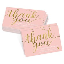 50 pces obrigado por apoiar meu cartão de visita pequeno obrigado cartão de apreciação cardstock para proprietários vendedores
