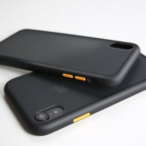 Image 4 - יוקרה עמיד הלם מקרה על עבור iPhone 12 11 פרו מקס מיני סיליקון שקוף מט טלפון כיסוי עבור iPhone X XS XR 7 8 בתוספת מקרים