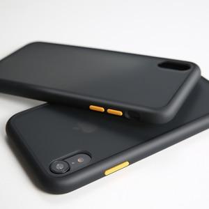 Image 4 - 高級耐衝撃ケースiphone 5 12 11プロマックスミニシリコーン半透明マット電話のカバーiphone x xs xr 7 8プラスケース