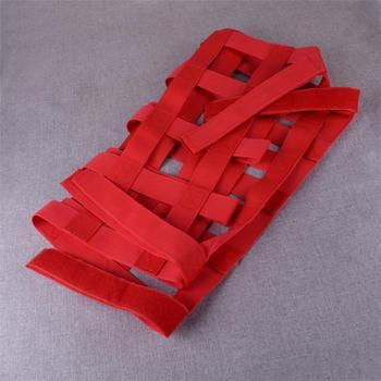 DWCX Filet De Cargaison Rouge Toit Fenêtre Arrière Retenue De Stockage Supplémentaire Hamac Filet Maille Polyester Adapté Pour Jeep Wrangler JL