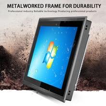 10 12 15 17 inç endüstriyel Panel PC su geçirmez, toz geçirmez, fansız soğutma hepsi bir PC mini bilgisayar kapasitif dokunmatik