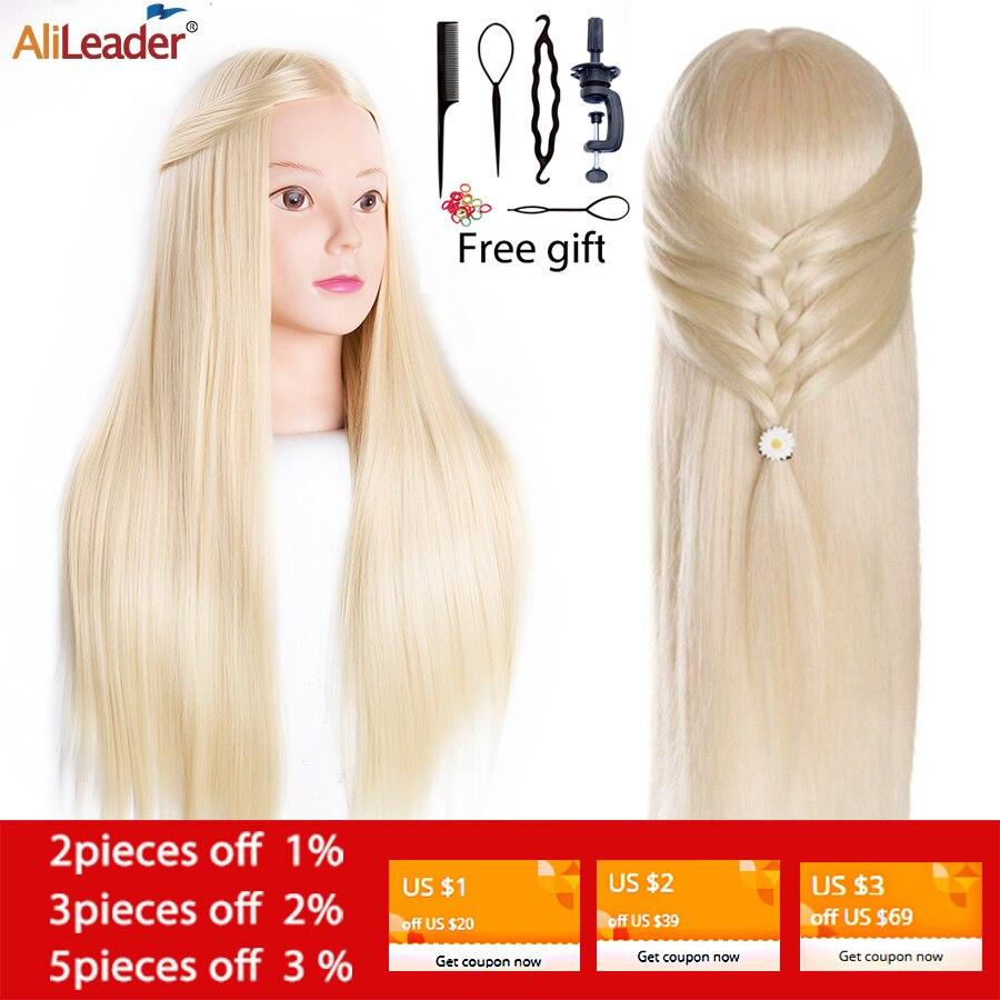 Alileader 65Cm Mannequin Kopf Mit Haar Ausbildung Kopf Haar Praxis Barber 7 Arten Haar Ausbildung Kopf Für Frisuren Freies geschenk